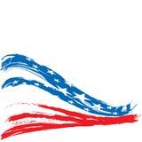 Diseño patriótico del fondo de Estados Unidos Imágenes de archivo libres de regalías