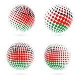 Diseño patriótico determinado del vector de la bandera de semitono de Malawi ilustración del vector