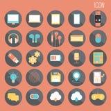 diseño plano básico de 25 sistemas, medios y smartphone social, web y aplicación móvil, el otro extracto ilustración del vector