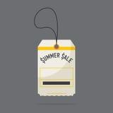 Diseño plano de etiquetas del precio de la venta del verano Vector Foto de archivo libre de regalías