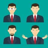 Diseño plano de la cara masculina de Avatar ilustración del vector