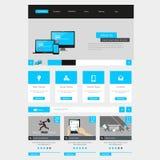 Diseño plano de la plantilla del interfaz del sitio web Vector Foto de archivo libre de regalías