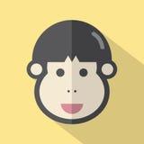 Diseño plano de la sola cara del hombre joven libre illustration