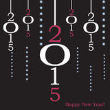Diseño plano 2015 de la tarjeta de felicitación Fotografía de archivo libre de regalías