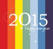 Diseño plano 2015 de la tarjeta de felicitación Imagenes de archivo