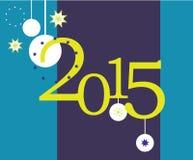 Diseño plano 2015 de la tarjeta de felicitación Imagen de archivo libre de regalías