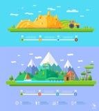 Diseño plano de los elementos infographic del ejemplo de la ecología del vector stock de ilustración