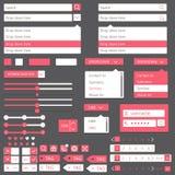 Diseño plano de los elementos, sistema del ui Vector Fotografía de archivo libre de regalías