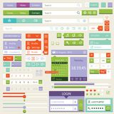 Diseño plano de los elementos, sistema del ui Vector Foto de archivo