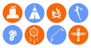 Diseño plano de los indios Fotografía de archivo libre de regalías