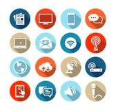 Diseño plano de los medios iconos Imagen de archivo