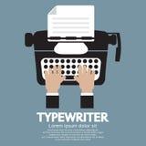 Diseño plano de máquina de escribir la máquina escribir clásica Imagen de archivo libre de regalías