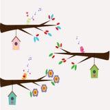 Diseño plano de 3 pájaros Fotos de archivo libres de regalías