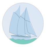 Diseño plano de papel del velero Imágenes de archivo libres de regalías