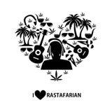 Diseño plano de Rastafarian Foto de archivo libre de regalías
