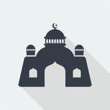 diseño plano del arte musulmán islámico del alivio de la mezquita, edificio del diseño web del seo fotografía de archivo