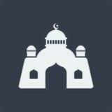 diseño plano del arte musulmán islámico del alivio de la mezquita, edificio del diseño web del seo fotos de archivo libres de regalías