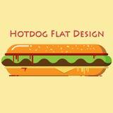 Diseño plano del perrito caliente foto de archivo libre de regalías