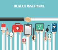 Diseño plano del seguro médico libre illustration