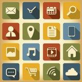 Diseño plano fijado iconos del web Fotos de archivo libres de regalías