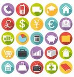 Diseño plano. Iconos de la oficina y del negocio. Sistema II. libre illustration