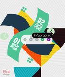 Diseño plano moderno de las rayas infographic geométricas stock de ilustración