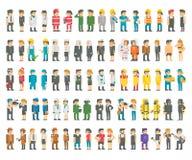 Diseño plano muchas profesiones fijadas libre illustration
