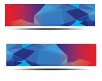 Diseño poligonal abstracto de la bandera Imagen de archivo libre de regalías
