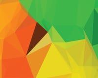 Diseño poligonal abstracto de la bandera Imagen de archivo