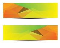 Diseño poligonal abstracto de la bandera Foto de archivo libre de regalías