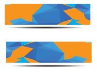 Diseño poligonal abstracto de la bandera Fotos de archivo