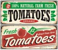 Diseño promocional de la muestra del vintage de los tomates