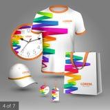 Diseño promocional de los elementos Imagen de archivo libre de regalías