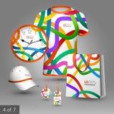 Diseño promocional de los elementos Imagen de archivo