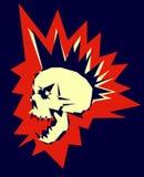 Diseño punky del cráneo stock de ilustración