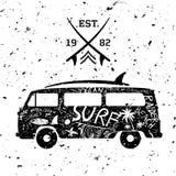 Diseño que practica surf Fotos de archivo libres de regalías