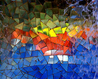 Diseño quebrado del azulejo Foto de archivo libre de regalías