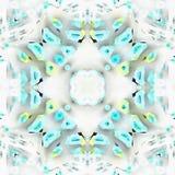 Diseño Quilling del fractal del batik ilustración del vector