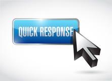 diseño rápido del ejemplo del botón de la respuesta ilustración del vector