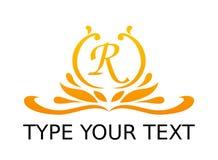 Diseño real del logotipo Imagenes de archivo
