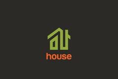 Diseño Real Estate del logotipo de la casa verde de Eco