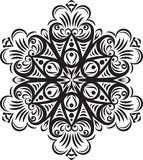 Diseño redondo del cordón del vector abstracto - mandala, elemento decorativo ilustración del vector