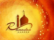 Diseño religioso del fondo del kareem del Ramadán stock de ilustración