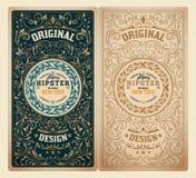 Diseño retro con los ornamentos florales Imágenes de archivo libres de regalías