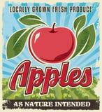 Diseño retro de la etiqueta del cajón del vintage de Apple stock de ilustración
