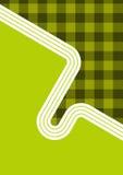 Diseño retro de la guinga Foto de archivo libre de regalías