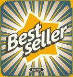 Diseño retro de la muestra de la lata del bestseller stock de ilustración