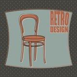 Diseño retro de la silla Fotografía de archivo