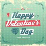 Diseño retro de la tarjeta de felicitación del día de tarjeta del día de San Valentín del vintage libre illustration