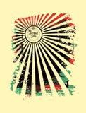 Diseño retro del cartel del grunge tipográfico del verano Ilustración del vector Imagenes de archivo